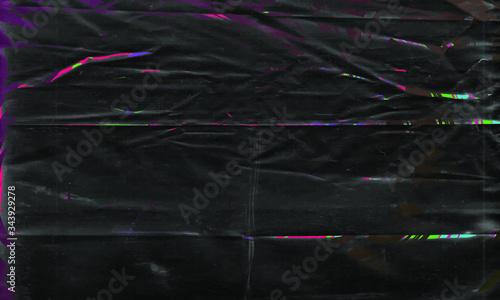 Background texture of a polyethylene,plastic transparent black plastic film,transparent stretched background.eps 10