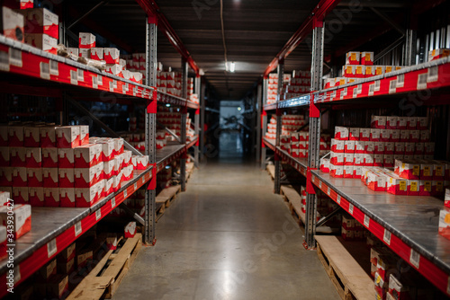 Fototapeta Warehouse storage of retail merchandise shop.. obraz