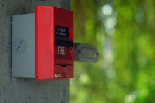 Close-up Of Red Fire Alarm Box