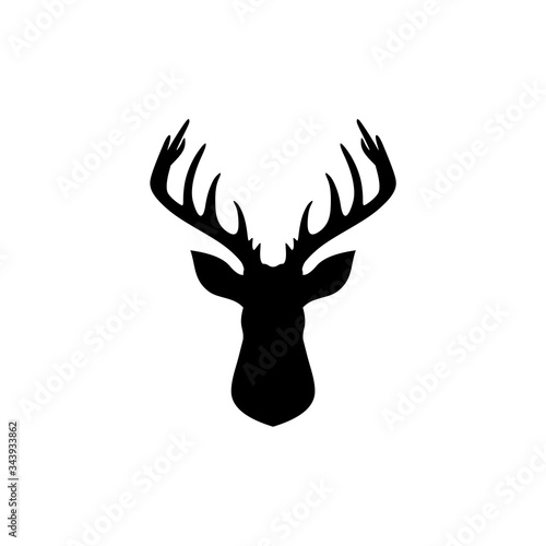 Foto Deer head creative design logo isolated on white background