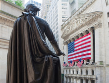 Monument Of George Washington In Federal Hall