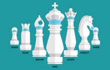 Chess Pieces King Queen Bishop...