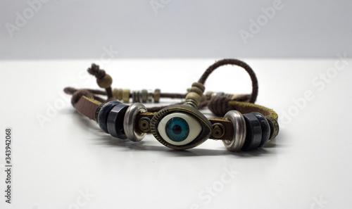 indian amulet bracelet.Image with selective focus. Canvas Print
