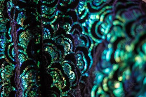 Full Frame Shot Of Sequin On Fabric