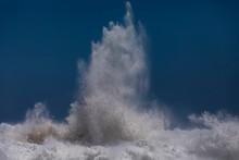 Powerful Ocean Wave Breaking A...