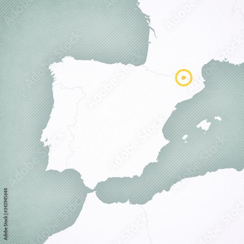 Photo Map of Iberian Peninsula - Andorra