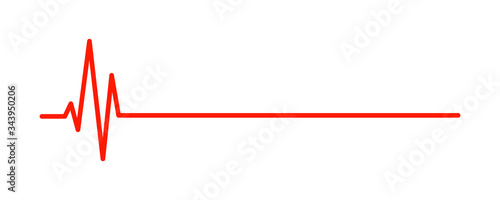 Hearbeat red line Canvas Print