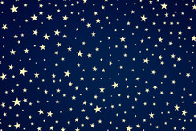 Blue Stars Background, White S...