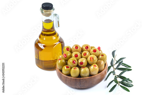 Green Olives Stuffed With Paprika Wallpaper Mural