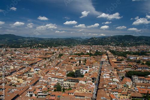 Naklejka premium Panorama miasta - Florencja, Toskania, Wlochy