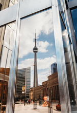 Reflection Of CN Tower In A Wi...