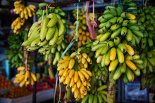 Bananas For Sale At A Market, Phnom Penh, Cambodia, Southeast Asia