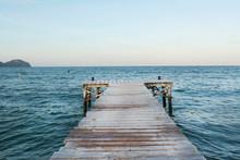 Sunset Beach Pier In Mallorca