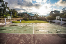 Basketball Sports Court Adjace...