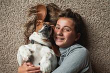 Tween Girl Posing With Her Bas...