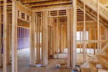 Framing Beam Of New House Unde...