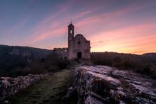 Church Castle Sunset Sky Colors