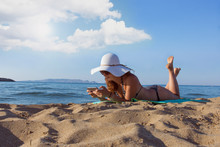 Woman Enjoying Summer Vacation...