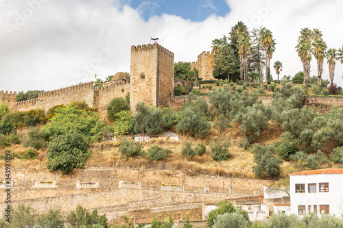 the Medieval castle (Alcazaba) at Jerez de los Caballeros city, province of Badajoz, Extremadura, Spain