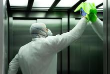 Coronavirus. Worker Disinfecti...