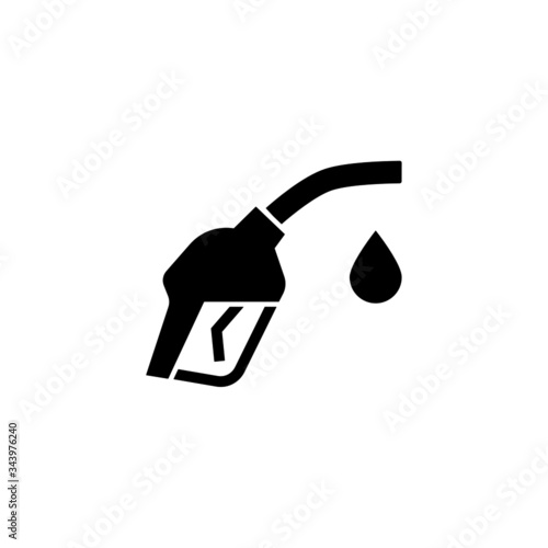 Fuel pump icon symbol in black flat shape design isolated on white background Canvas Print