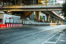 Empty Street In Bangkok's CBD ...