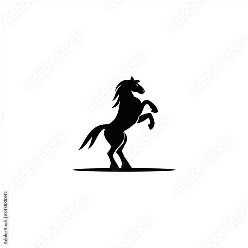 Fototapeta logo horse icon vector designs obraz