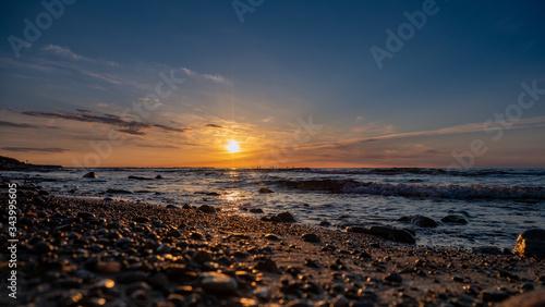 Fototapeta zachód słońca Ustka obraz