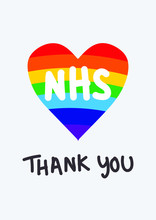 THANK YOU NHS Rainbow Vector -...