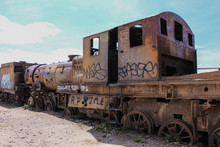 Old Rusty Train In The Middle ...