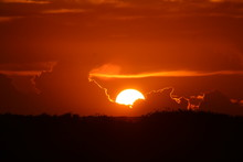 The Sunset Over The Everglades