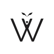 Black And White Letter W Wolf Logo Template