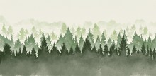 Hand Drawn Watercolor Painting...