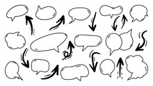 Hand Drawn Arrows And Speech B...