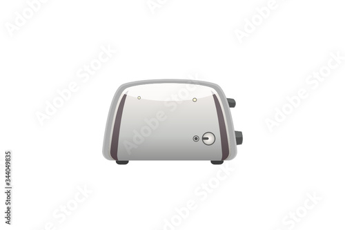 Metallic toaster Electric Domestic Home and Kitchen Interior appliance Color Vec Wallpaper Mural