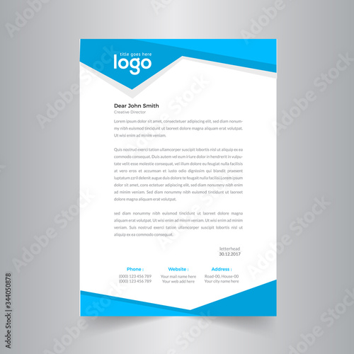 Business style letter head templates for your project design. Fototapete