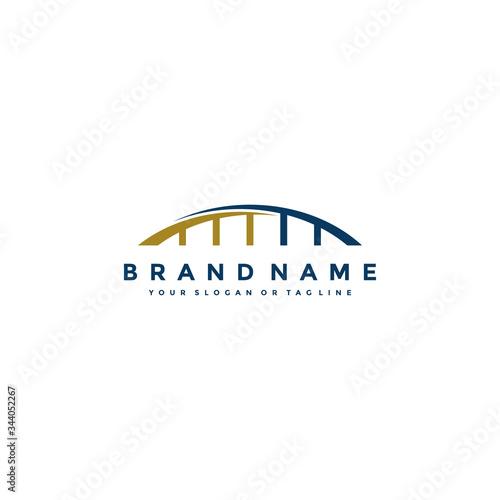 bridge logo icon design vector template