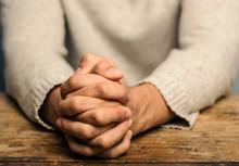 Image Of Praying Hands. Prayin...