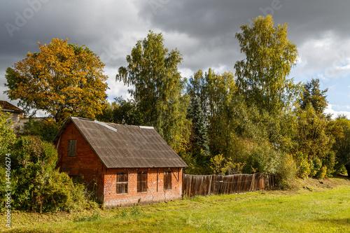 Photo House on the border between Latvia and Estonia