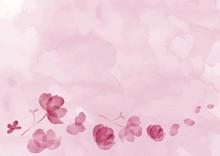 花イラスト和紙風背景
