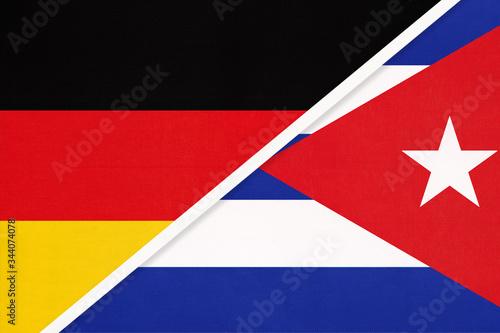 Germany vs Cuba, symbol of two national flags Wallpaper Mural