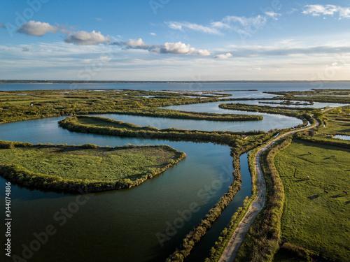 Photo drone aérienne domaine de certes bassin arcachon Canvas Print