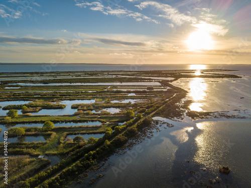 Photo aérienne bassin arcachon domaine de certes Canvas Print