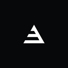 Minimal Elegant Monogram Art Logo. Outstanding Professional Trendy Awesome Artistic EA AE AF FA Initial Based Alphabet Icon Logo. Premium Business Logo White Color On Black Background