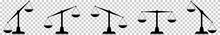 Scales Icons Set. Law Scale Ic...