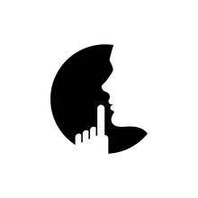 Vector Keep Silence Icon On White Background.