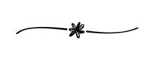 Hand Drawn Shape Flower With C...