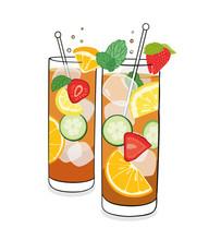 Summer Drink - Vector Illustration