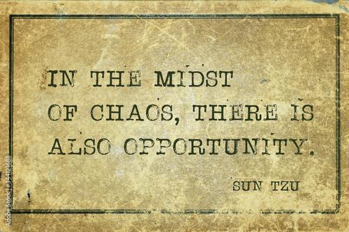 Photo midst of chaos Sun Tzu