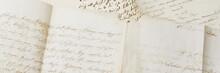 Closeup Of Old Handwriting; Vi...